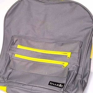 Bwap Backpack Gray with Yellow NWOT